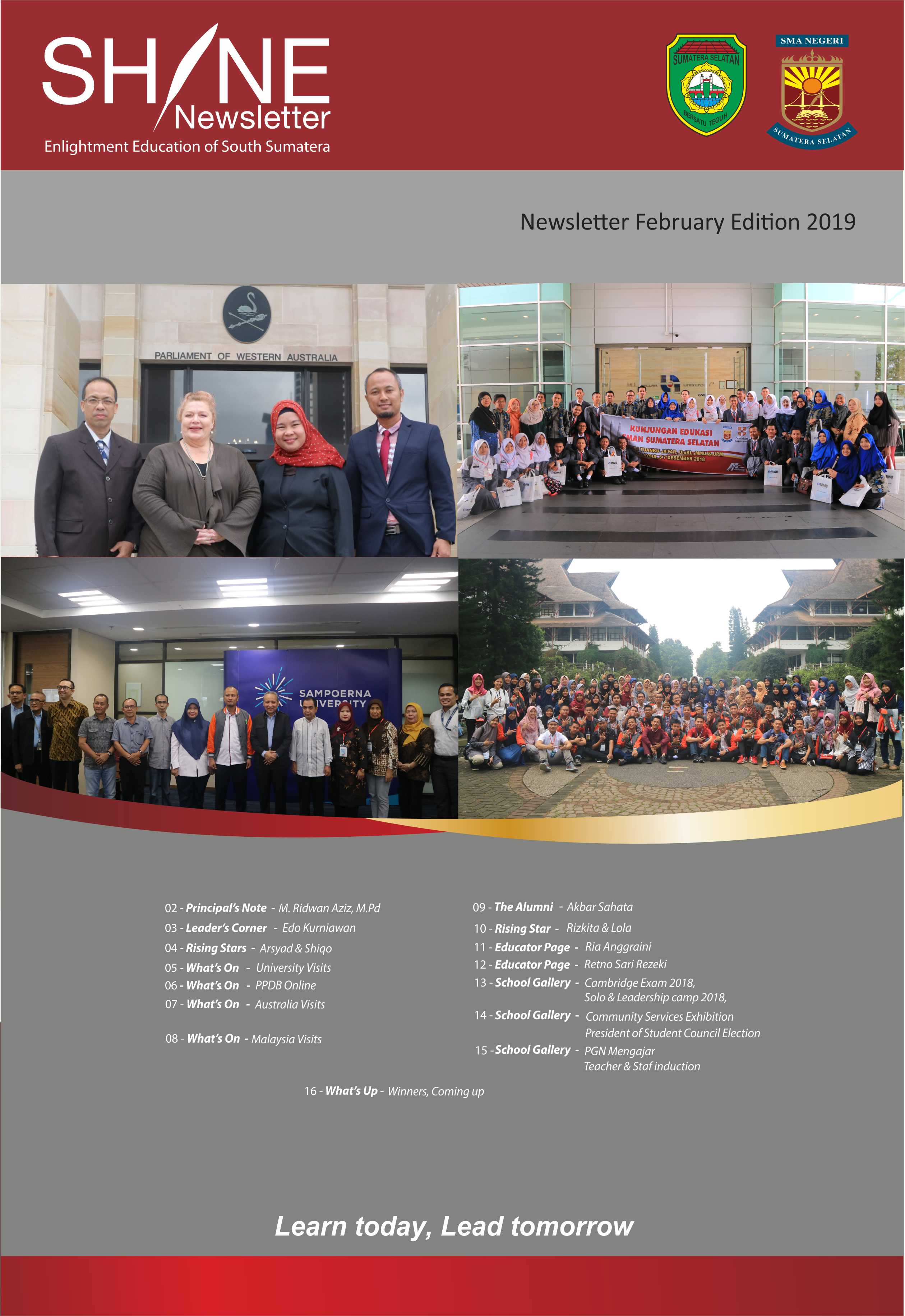 NEWSLETTER 2019 FEBRUARI EDITION